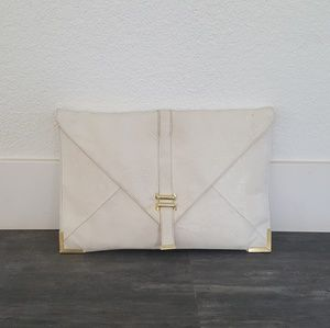 White Gold Classic Asos Envelope Clutch